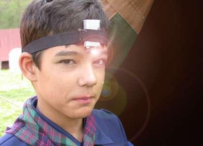 Zelfgemaakte head-ledlight