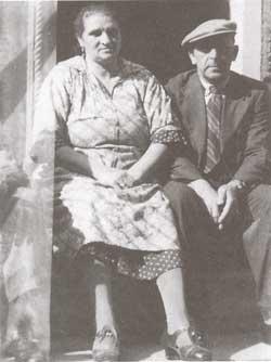 Israël Samuel en Hendrika Kropveld, begin jaren veertig (maker onbekend)