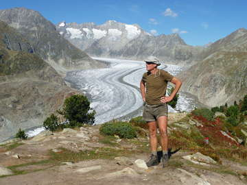 Perhaps the best view of the trip - The Aletsch Glacier