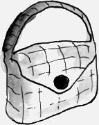 Tasje van slangenleer - waarde €15